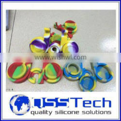 High quality 7ml customized small silicone washer/ oil dab wax container/ silicone wax and oil container