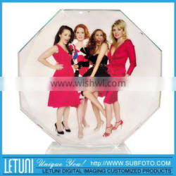k9 fashionable crystal trophy with YOUR photo