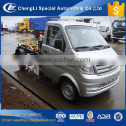 Chinese 1 ton 4 wheeler 4x2 dongfeng mini skip loader rubbish truck for sale