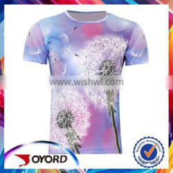 Wholesale printed cotton/ polyester custom t shirt