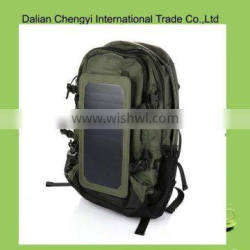 High capacity 1680D hiking solar backpack with power supplier