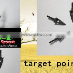 Linkboy target point steel 2 blades points shape of the maple leaf with thread big hole