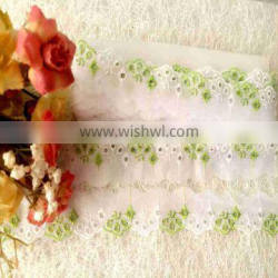 beauty design mesh embroidery lace trimming for garment accessories