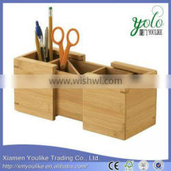 2016 New Design Bamboo Expandable Pencil Holder