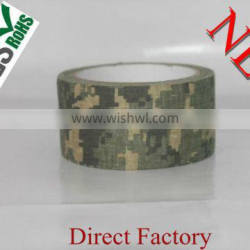 Camouflage duct cloth art adhesive tape