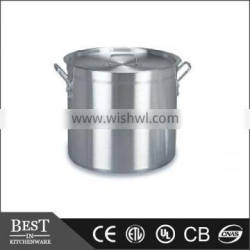aluminium Stock pot with lid Aluminum with high body soup pot with cover
