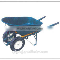 Two wheels and metal tray construction WB7808 wheelbarrow for sale