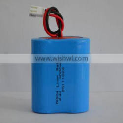 IFR26650 6.4v 3000mah LiFePo4 lithium ion battery pack used for Solar garden LED lamp