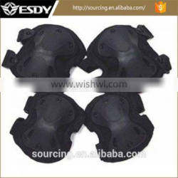 Black Color Outdoor Sports Tactical Protective Knees Elbow Pads