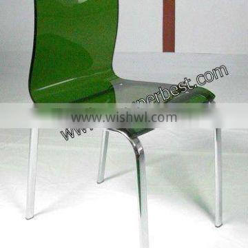 modern acrylic chair with metal foot