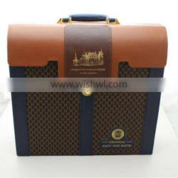 Briefcase shaped gift box/Wine set for 4 bottles