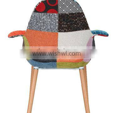 Hot selling patchwork softcover living room leisure chair