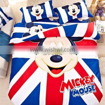 Wholesale Mickey Mouse bedding set for kids Mickey Minnie bedding set of 3pcs for single beds