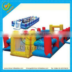 Soap inflatable soccer field , inflatable football field for sale
