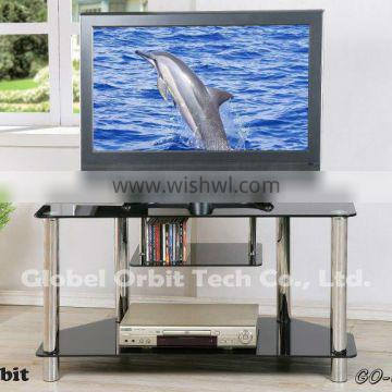 High quality glass lcd tv stand