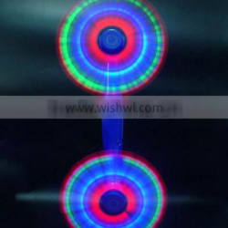 2015 Newest LED Electroplating Flashing Double End Windmill for Kids