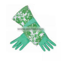 Whole sale DIY cuff latex kitchen gloves with