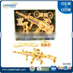 Educational plastic military army play set toys gun for kids