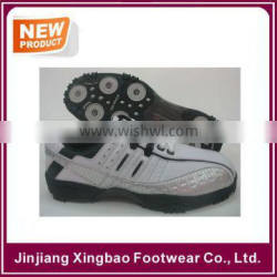 Classic Sport Spikes Men's Golf Shoe White Manufacturer Water Proof PU leather golf cleats Sport Performance