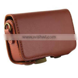Factory competitive price high class mini leather Camera Bag in Dongguan