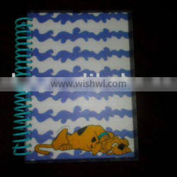 Plastic full color printing transparent Note Book Cover