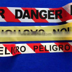Printed caution PE barrier film tape for road warning use