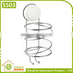 Modern Free Installed Wall Mounted Plastic Hair Dryer Holder