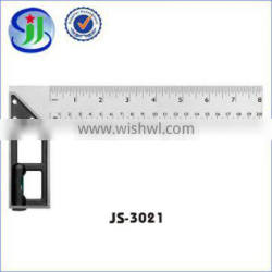 Made in China square level ruler with zinc alloy seat