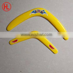 mini custom made promotional PP boomerang with logo/business gift/outdoor toys for kids