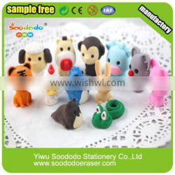 Chinese Zodiac shaped eraser pencil topper with eraser