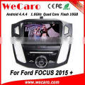 Wecaro WC-FF8088 Android 4.4.4 car dvd player 2 din car audio system with gps for ford-focus 2015 bluetooth