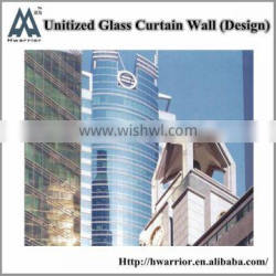 Unitized curtain wall with Low-E insulating glass