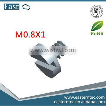 stainless steel slotted cheese head micro fastener M8x1 screw