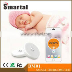 BM01 -Smart Intelligent Baby body Thermometer 7days' Historical tempreture Records Tracker by APP control