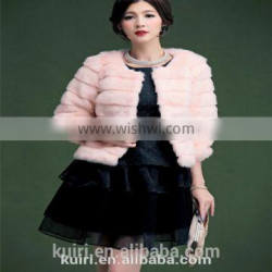 Ladies keep warm winter and autumn short thicken woman rabbit fur coat lady faux fur pure collar jackets