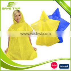 Creative fashion extra large cheap disposable rain poncho with hood