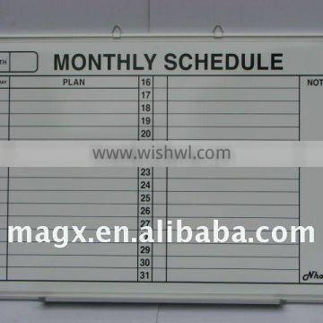 Month Planner Whiteboard Of Magx Manufacturer