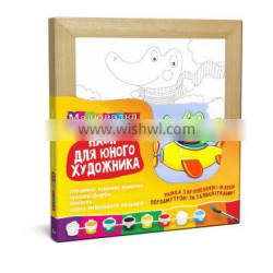 """ART KIT for the Youngest artists """"Crocodile"""", 20*20 cm, """"ROSA KIDS"""""""