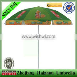Full color printing promotional parasol with windproof steel frame