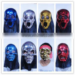 cheap wholesale halloween party pvc mask scary black skull face mask for sale