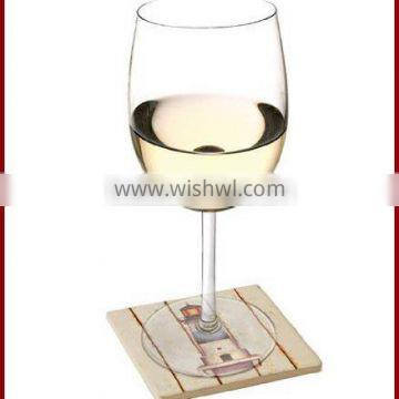 Glass Coasters with Sandstone Design in Set of 4
