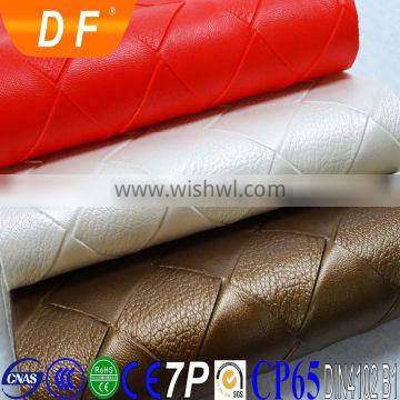 2015 High Grade Environmental abrasion resistant scratch resistant low toxicity beauty salon equipment PVC leather