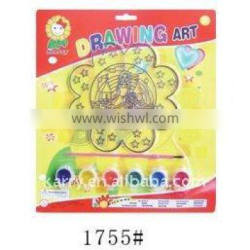 6 color 3G each acrylic emulsion paint set and suncatcher to be a unit of good quality drawing set