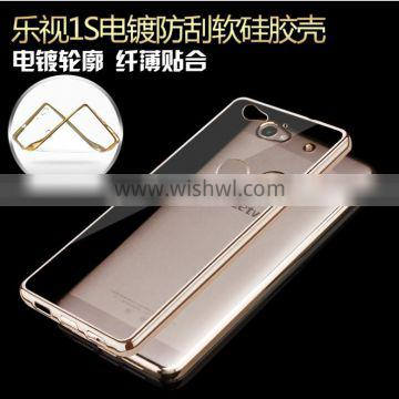 2016 newest mobile phone cover case electroplate tpu for LETV 1S