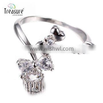 fashion wholesale jewelry zircon ring 925 silver ring Jewelry accessories