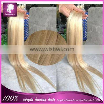Wholesale Price Top Quality Tape Hair Extension 100% European Extension double side hair bundle in color #613