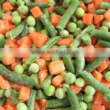 Supply IQF Frozen Mixed Vegetables Peas, Carrots,Sweet Corn,Green Beans