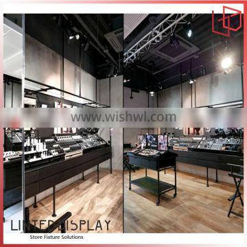fashionable retail shop fittings display cosmetic showcase, makeup display stand