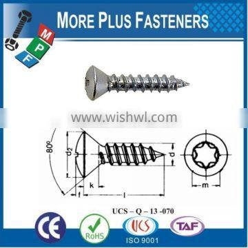 Made in Taiwan Phillis Recess Raised Countersunk Oval Head Tapping Screw