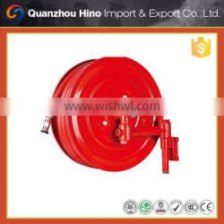 fire hose reel with swivel joints and nozzle